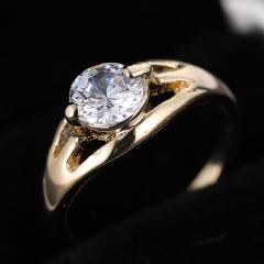 Gold Plated Luxury Wedding Ring Gemstone Fashion Rings Circle