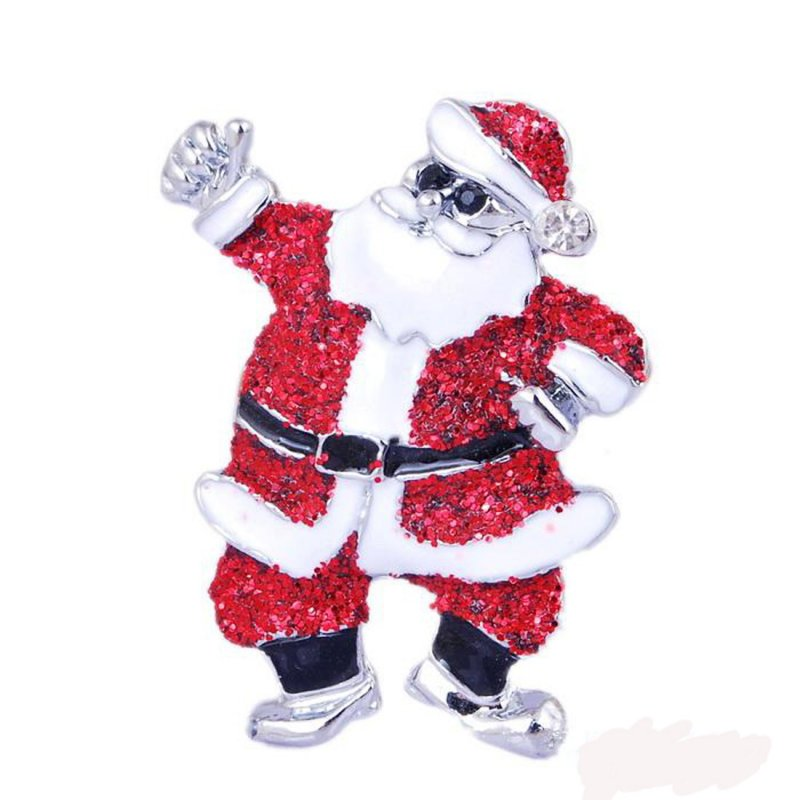 Rhinestone Christmas Santa Claus Brooches for Women Pin Brooch Party Jewelry Collar Accessories New