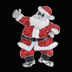 Rinhoo Santa Claus brooches pins Costume Jewelry Women Family Clothing Accessories Santa Claus