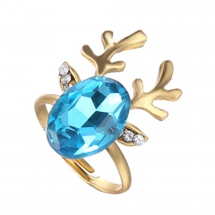 Christmas Style Cute Rings Alloy Adjustable Rings Wholesale Elk