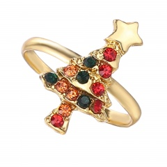 Christmas Style Cute Rings Alloy Adjustable Rings Wholesale Christmas Tree