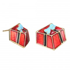 Small Christmas Style Stud Earring Jewelry Cute Earring for Girl Gift