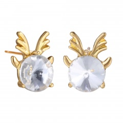 Small Christmas Style Stud Earring Jewelry Cute Earring for Girl Elk
