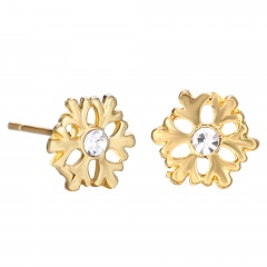 Small Christmas Style Stud Earring Jewelry Cute Earring for Girl Snow