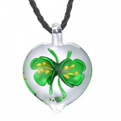 Fashion Lampwork Murano Glass Heart Flower Necklace Pendant Starfish Jewelry Hot Green