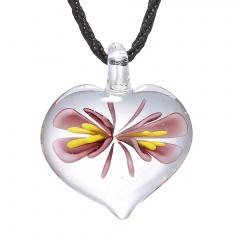 Fashion Lampwork Murano Glass Heart Flower Necklace Pendant Starfish Jewelry Hot Purple