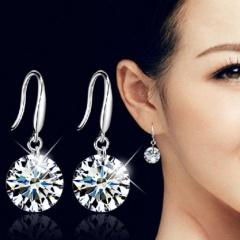 Shining Diamond Zircon Earrings Jewelry Silver