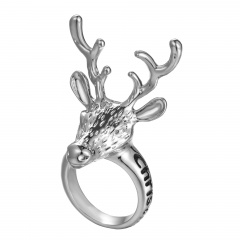 Fashion Christmas Series Ring Christmas Deer Head Rings Jewelry Wholesale Elk