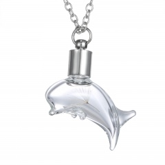 fashion glass dolpin chain necklace jewelry dolphin