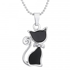 Women Retro Angle Wing Necklace Pendant Chain Wedding Party Jewelry Charm Gift Cat
