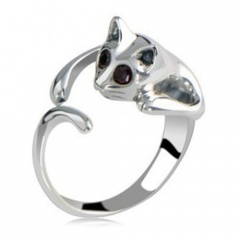 Fashion Cute Cut Open Silver Plated Ring Alloy Ring for Women Cut