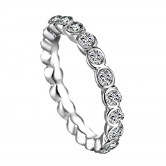 Size 8 Fashion Simple Ring Women Crystal Wedding Party Gift Size 8 Charm