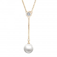 korean fashion pearl gold chain pendant necklace jewelry wholesale pearl
