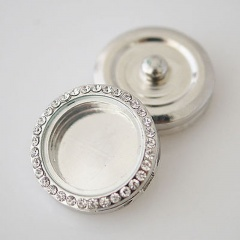 Full Stone Button DIY Jewelry Accellories Alloy with Glass Accessories Full Stone