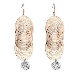 fashon luxury gold dangle with stone earring jewlery wholesale gold