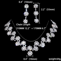 12 Sets Temperament Rhinestone Jewelry Set 1402-6402