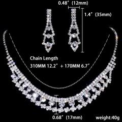 12 Sets Temperament Rhinestone Jewelry Set 1402-6454