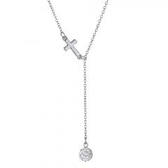 Fashion Silver Cross Pendant Necklace Chain Choker Collar Chunky Cross