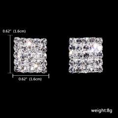 1DZ (12 Pairs) Small Elegant Rhinestone Gemstone Stud Earring Wholesale 121-6194