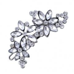 Black Retro Flower Flashing Diamond Multi-Purpose Hairpin Flower