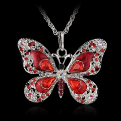 Wholesale Fashion Pendant Necklace Factory Price Red