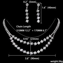 1 Dozen (12 Set) Rhinestone Jewelry Set Wedding Necklace Earring Set Wholesale 1402-6528