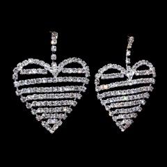 Crystal Heart Geometric Stud Earrings Heart heart