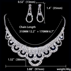 12 Set Special Wedding Jewelry Set Necklace Earring Set Wholesale 1402-6584