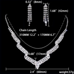12 Set Special Wedding Jewelry Set Necklace Earring Set Wholesale 1402-6586