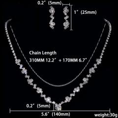 Wedding Shinning Necklace Earring Jewelry Set Rhinestone Jewelry Wholesale 1402-6632