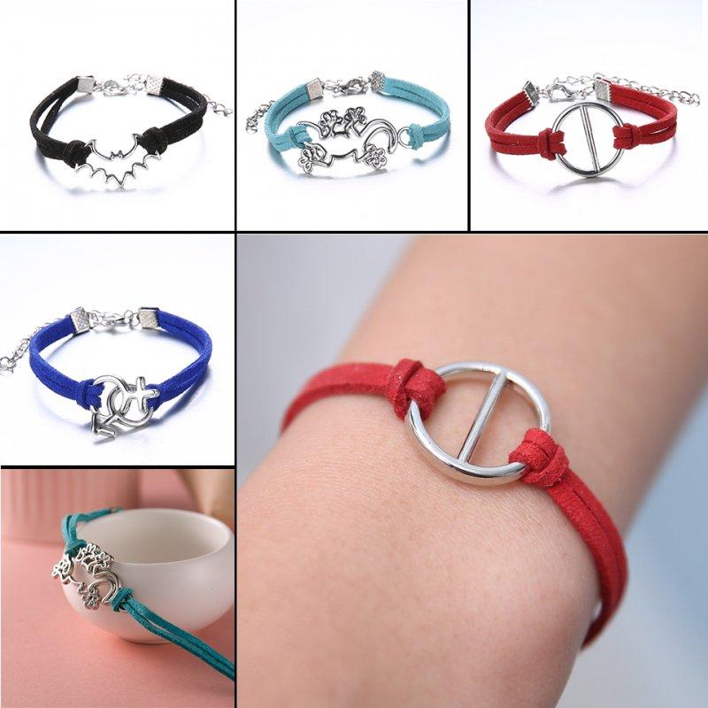 Fashion Handmade Cross Tortoise Note Charms Braided Bracelet Friendship Jewelry