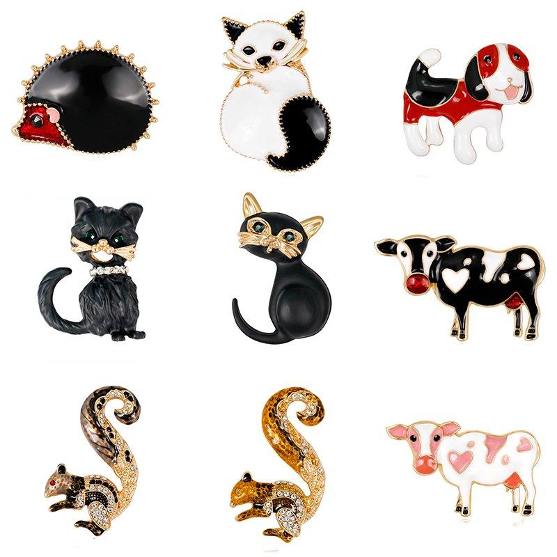 Women Cartoon Hedgehog Brooch Butonniere Animal Corsage Breastpin Ornament Gifts