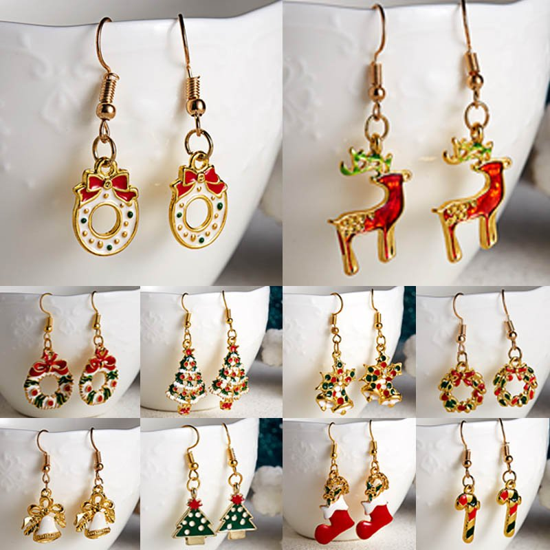 New Fashion Women Luxury Crystal Earrings Charms Gifts Free shipping