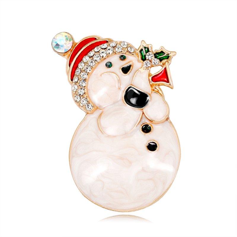 Joli Noël Cristal Bonhomme De Neige Broche Broche Corsage Famille Noël Fête Bijoux