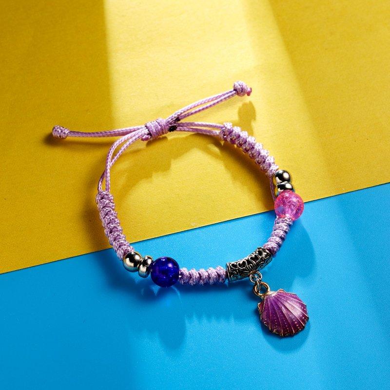 Adjustable Kids Beads String Woven Bracelets Chain Vintage