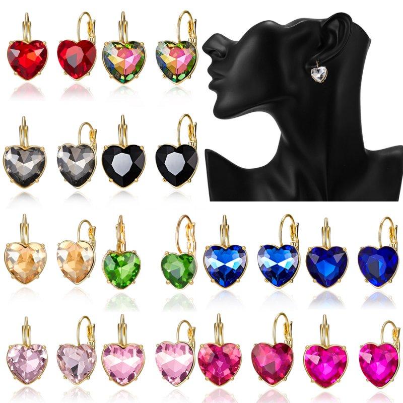 Women/'s stainless steel Crystal Rhinestone Ear Stud Hoop Earrings Jewelry Gift