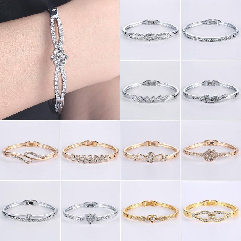 Jewelry Bangle Charm Cuff Silver Fashion Plated Women Bracelet