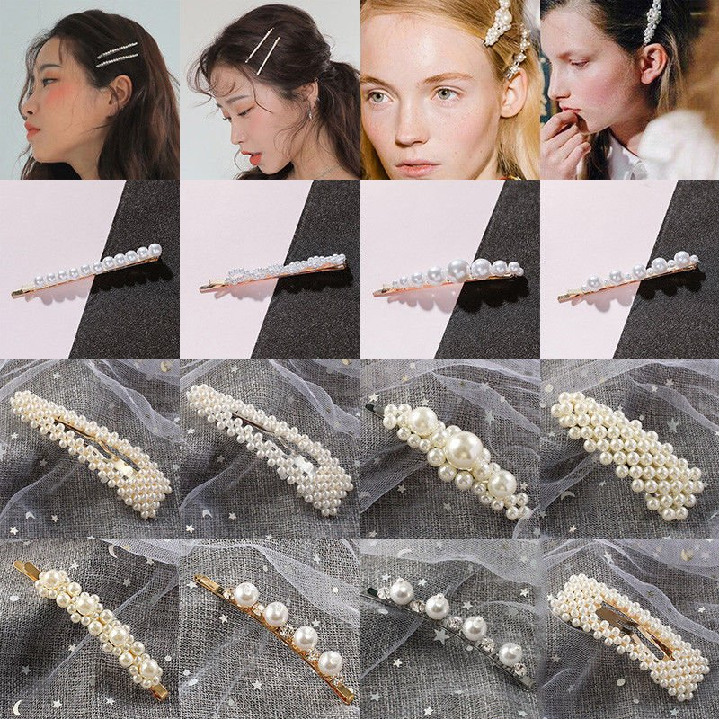 Fashion 1pc Bow Headband Rabbit Ears Crystal Rhinestone High Quality Elastic Hair Bands Pearls Hair Accessories For Women Girl Clients First Apparel Accessories
