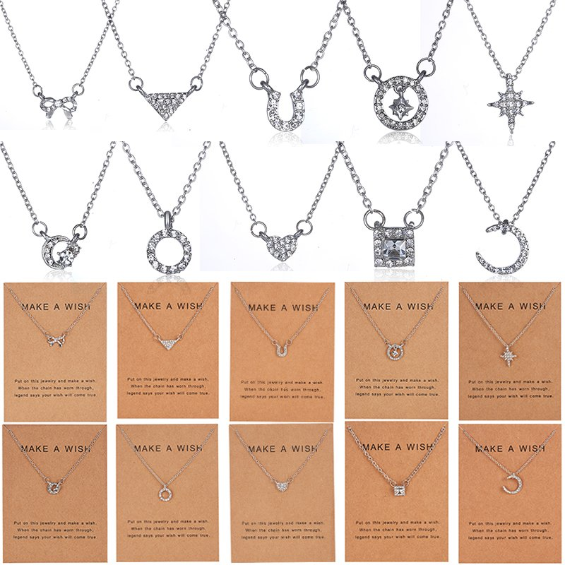 SONGBB necklace Sterling Silver Crown Crystal Necklace Female Simple Clavicle Chain