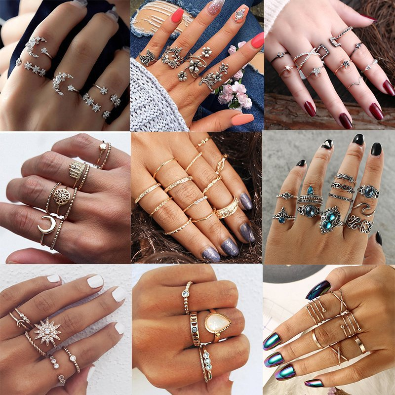 015001252033d Details about 1 Set Punk Midi Finger Knuckle Rings Women Elegant Ring Set  Jewelry Gift Party