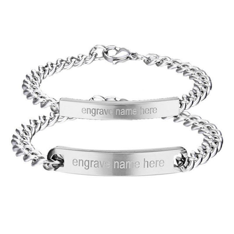 Personalized Engrave Stainless Steel Custom Bracelet