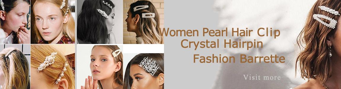 Crystal Pearl Word Hair Clip Slide Barrette Bridal Women