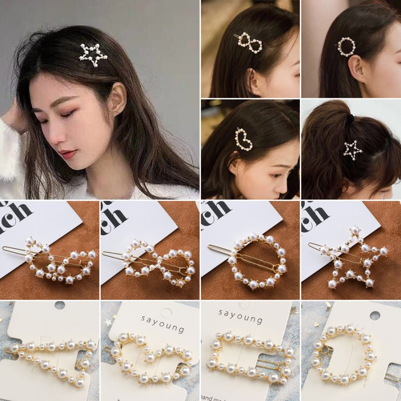 New Barrette Hairgrip Elegant Hairpin Women Hair Clip Metal Hairband