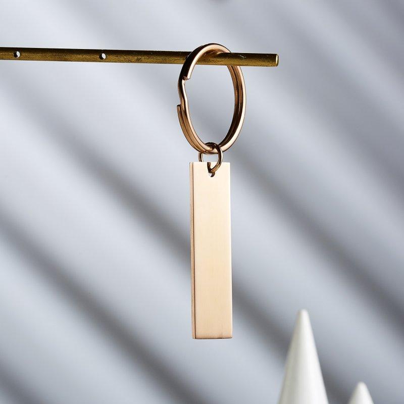 Personalised Stainless Steel Keyring Keychain Custom Name Couple Love Key Rings