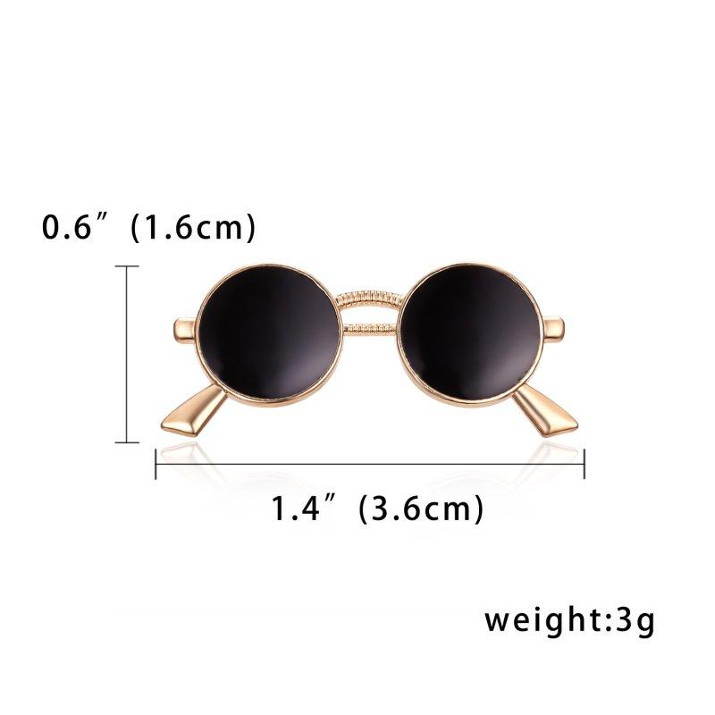Sunglasses Men's Brooch Lapel Badge Suit Pin Chest Alloy