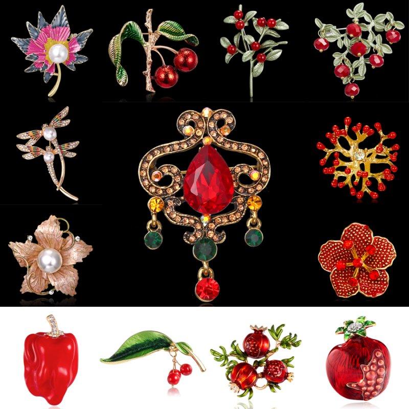 Bridal Wedding Bouquet Crystal Rhinestone Flower Brooch Pin