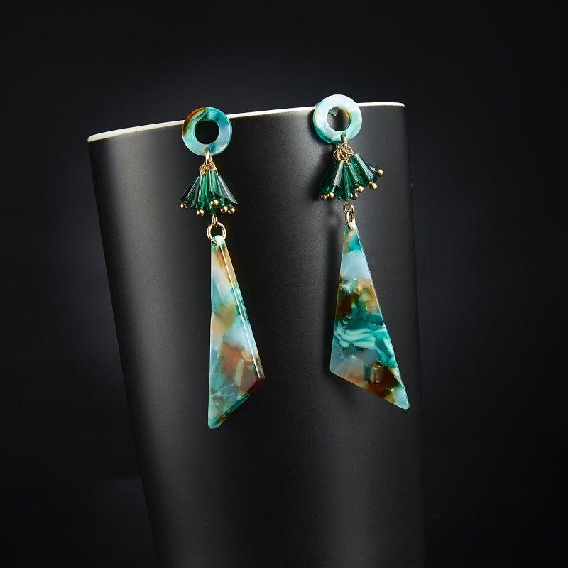 Femmes Clous Boucle d/'oreille boho geometric Dangle Drop Crochet Acrylique Résine Boucle d/'oreille Bijoux
