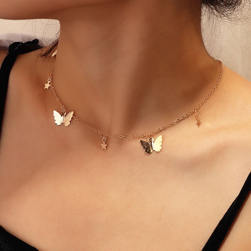 Women Long tassel Pendant Necklaces Sweater Chain Necklaces Gold Silver 1 Pc