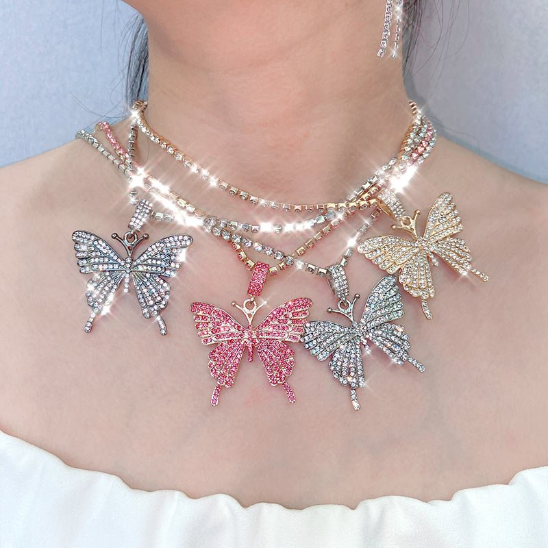 Women/'s Long  Hollow Jewelry Sweater Chain Pendant Crystal Statement Necklace